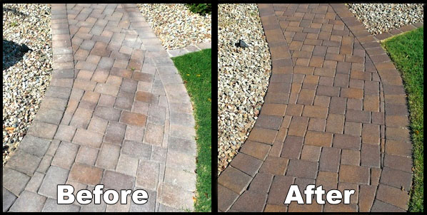 Before And After: Paver Sealing
